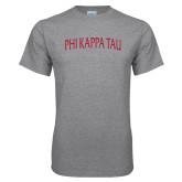 Grey T Shirt-Arched Wordmark