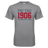 Grey T Shirt-Phi Tau 1906 Founders Day