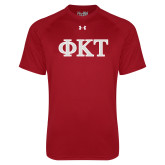 Under Armour Cardinal Tech Tee-Greek Letters - Two Color