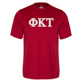 Performance Cardinal Tee-Greek Letters - Two Color