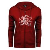 ENZA Ladies Cardinal Fleece Full Zip Hoodie-All You Need Is Love