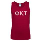 Cardinal Tank Top-Greek Letters