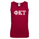 Cardinal Tank Top-Greek Letters - Two Color