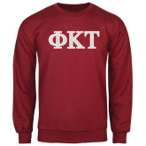 Cardinal Fleece Crew-Greek Letters - Two Color