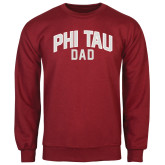 Cardinal Fleece Crew-Phi Tau Dad