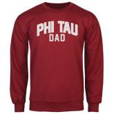 Cardinal Fleece Crew-Phi Tau Dad