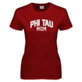 Ladies Cardinal T Shirt-Phi Tau Mom