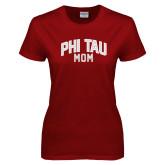 Ladies Cardinal T Shirt-Phi Tau Mom