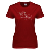 Ladies Cardinal T Shirt-Phi Tau Sweetheart