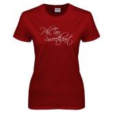 Ladies Cardinal T Shirt-Phi Tau Sweetheart
