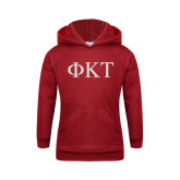 Youth Cardinal Fleece Hoodie-Greek Letters