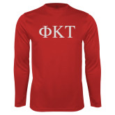 Syntrel Performance Cardinal Longsleeve Shirt-Greek Letters