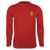 Syntrel Performance Cardinal Longsleeve Shirt-Crest