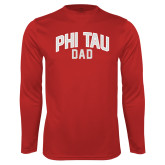 Performance Cardinal Longsleeve Shirt-Phi Tau Dad
