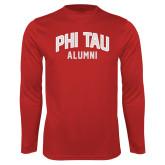 Syntrel Performance Cardinal Longsleeve Shirt-Phi Tau Alumni