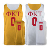 Gold/White Reversible Tank-Personalized Arched Phi Kappa Tau