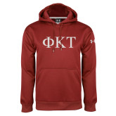 Under Armour Cardinal Performance Sweats Team Hoodie-Greek Letters