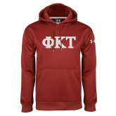 Under Armour Cardinal Performance Sweats Team Hoodie-Greek Letters - Two Color