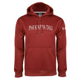 Under Armour Cardinal Performance Sweats Team Hoodie-Arched Wordmark