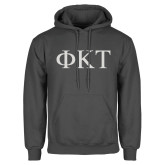 Charcoal Fleece Hoodie-Greek Letters
