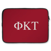 15 inch Neoprene Laptop Sleeve-Greek Letters