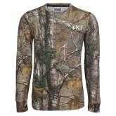 Realtree Camo Long Sleeve T Shirt w/Pocket-Greek Letters