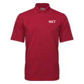 Cardinal Mini Stripe Polo-Greek Letters - Two Color