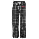 Black/Grey Flannel Pajama Pant-Greek Letters - Two Color
