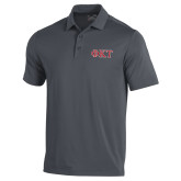 Under Armour Graphite Performance Polo-Greek Letters - Two Color
