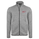 Grey Heather Fleece Jacket-Greek Letters