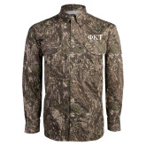 Camo Long Sleeve Performance Fishing Shirt-Greek Letters