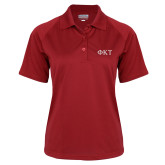 Ladies Cardinal Textured Saddle Shoulder Polo-Greek Letters