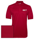 Cardinal Dry Mesh Polo-Greek Letters - Two Color