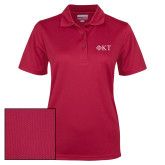 Ladies Cardinal Dry Mesh Polo-Greek Letters