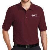 Cardinal Easycare Pique Polo-Greek Letters - Two Color