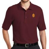Cardinal Easycare Pique Polo-Crest