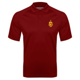 Cardinal Textured Saddle Shoulder Polo-Crest