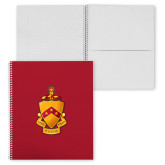 College Spiral Notebook w/Clear Coil-Crest