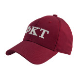 Cardinal Heavyweight Twill Pro Style Hat-Greek Letters - Two Color