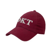 Cardinal Twill Unstructured Low Profile Hat-Greek Letters - Two Color