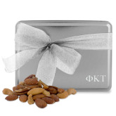 Deluxe Nut Medley Silver Large Tin-Greek Letters Engraved