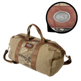 Canyon Realtree Camo Canvas Duffel-Greek Letters Engraved