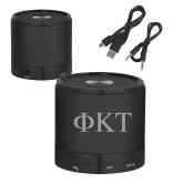 Wireless HD Bluetooth Black Round Speaker-Greek Letters Engraved