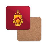 Hardboard Coaster w/Cork Backing-Crest