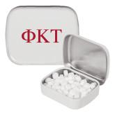 White Rectangular Peppermint Tin-Greek Letters