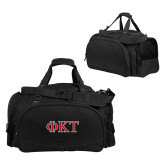 Challenger Team Black Sport Bag-Greek Letters - Two Color