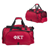 Challenger Team Cardinal Sport Bag-Greek Letters - Two Color