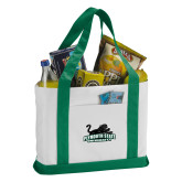Contender White/Dark Green Canvas Tote-Secondary Mark