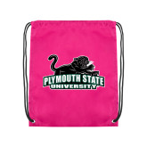 Pink Drawstring Backpack-Secondary Mark