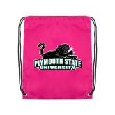 Pink Drawstring Backpack-Secondary Mark